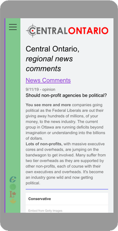 Central Ontario Regional News Comments